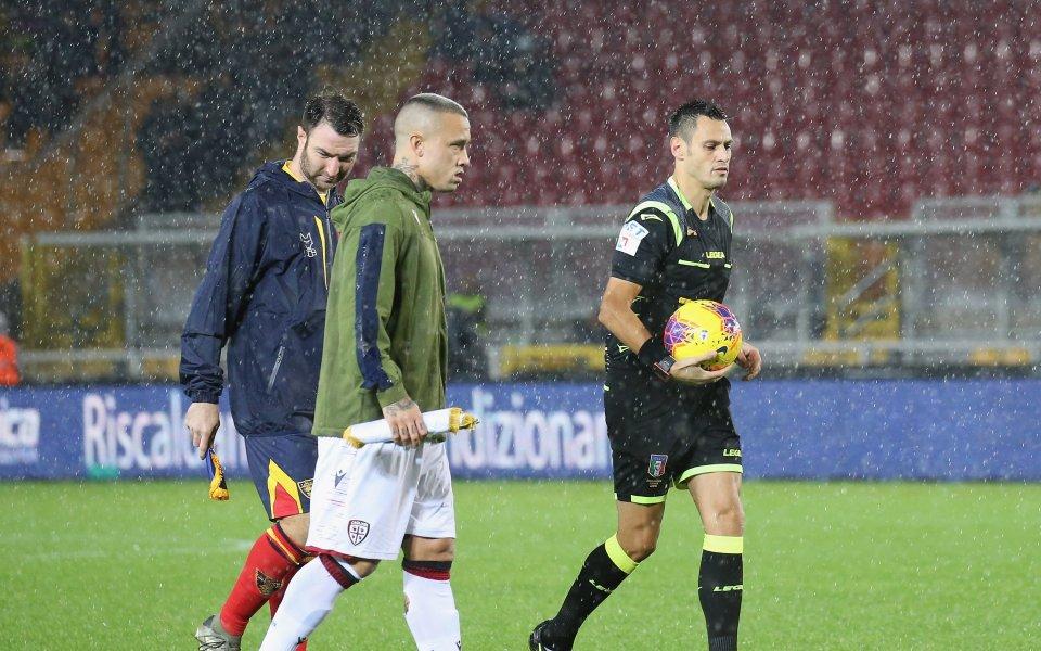Мач от Серия А пред отлагане за догодина