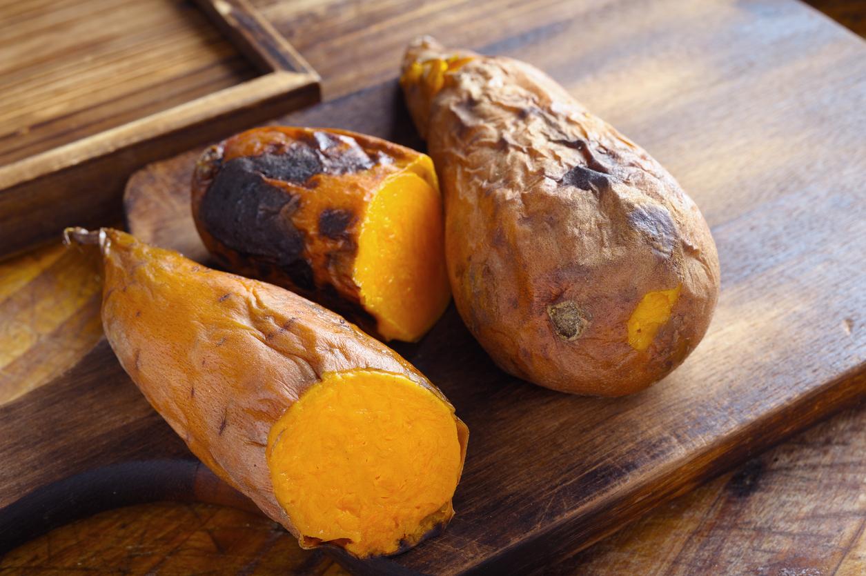 <p><strong>Сладки картофи </strong></p>  <p>Подобно на морковите, сладките картофи са богати на бета каротин. Те са и добър източник на антиоксиданта витамин Е.</p>
