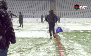 Въпреки снега, мач между Славия и Ботев Пд ще има