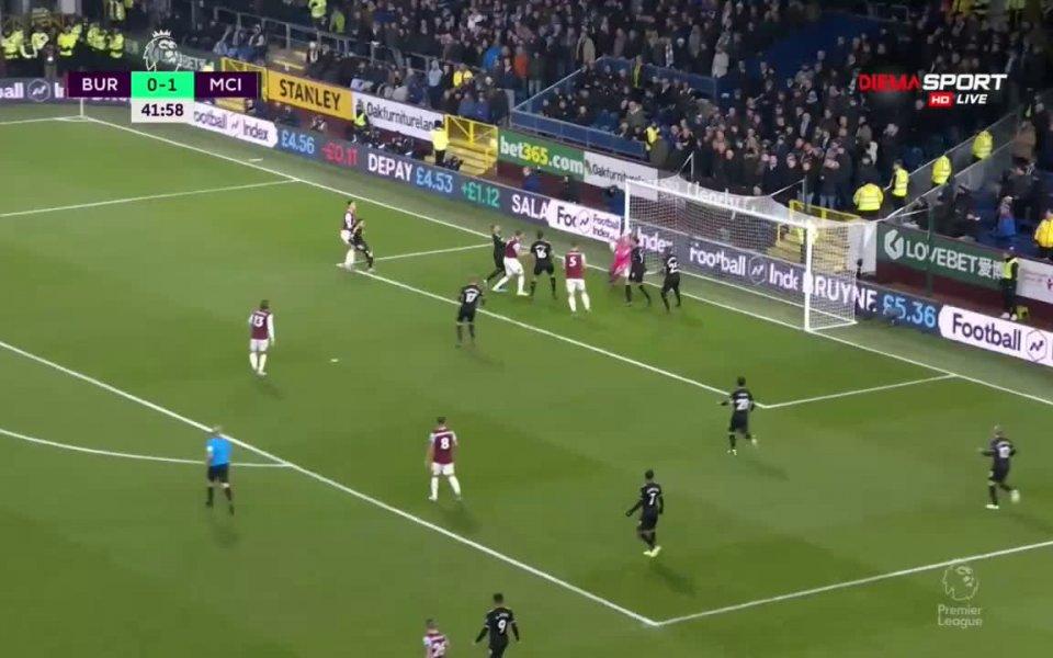 На почивката отборът на Манчестър Сити води с минималното 1:0