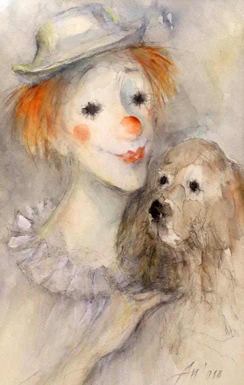 <p>&bdquo;Клоунът и кучето&ldquo;</p>
