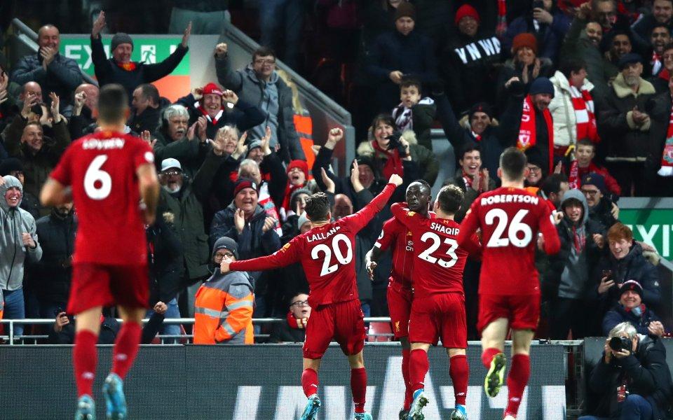 Отборът на Ливърпул победис5:2Евертън в среща от 15-ия кръг на
