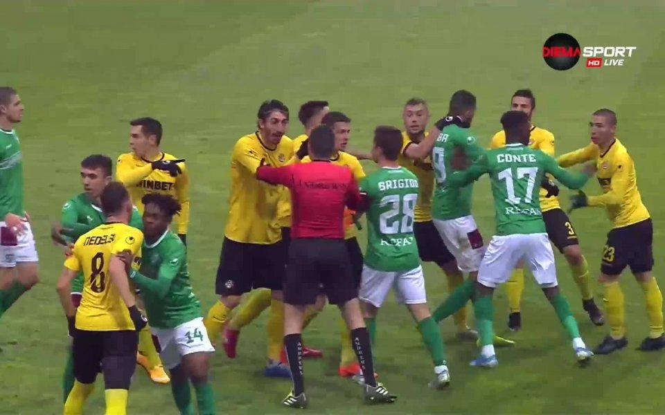 В края на мача мрбду Ботев Пд и Берое (3:1)