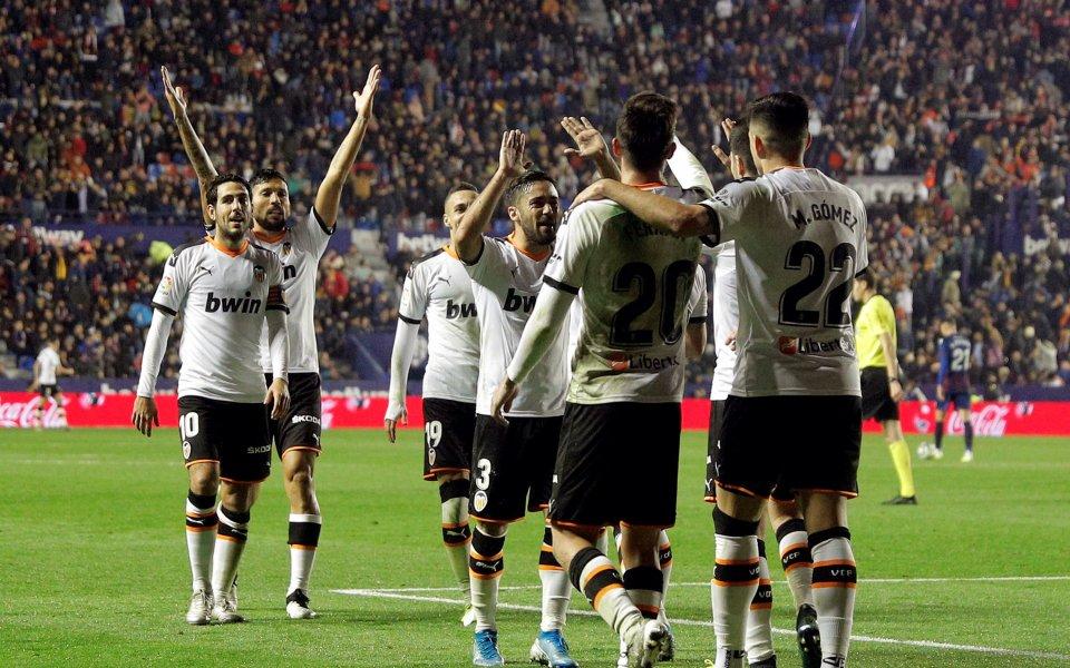 Валенсия с гръмка победа в градското дерби срещу Леванте