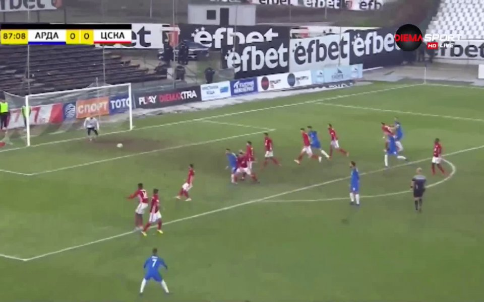 Тимовете на Арда и ЦСКА не успяха да си отбележат