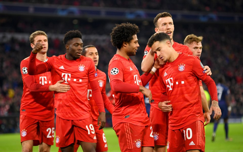 Отборът на Байерн Мюнхен победиТотнъм с3:1в дербито от група В