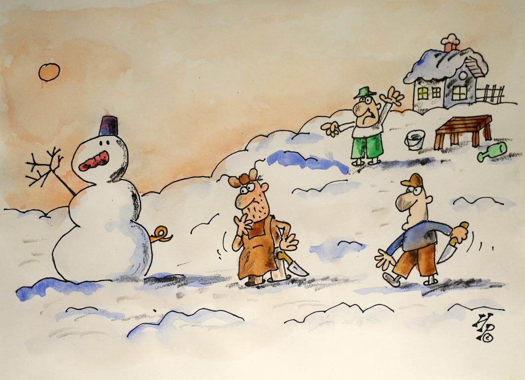 <p>Ириен Трендафилов Снежен човек със свинска опашка</p>