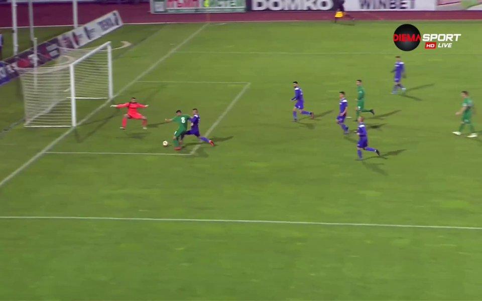 """В 56-ата минута равенството на стадион """"Ивайло"""" бе възстановено. Петър"""