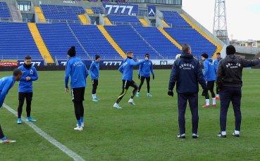 Левски тренира в пълен състав преди гостуването на Локомотив Пд