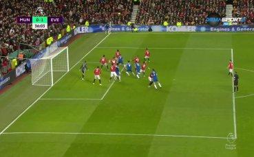 Манчестър Юнайтед - Евертън 0:1 /първо полувреме/