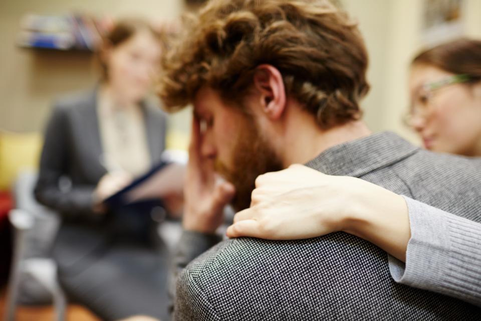 мъж утеха проблем чувствителност