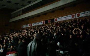 Подкрепа до последен дъх за Топалски от феновете на ЦСКА