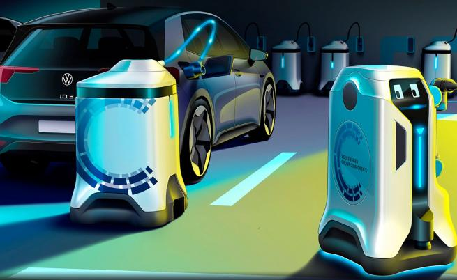 Volkswagen показа R2-D2 на зарядните станции