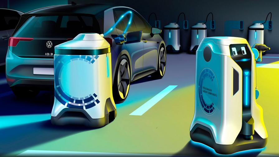 <p>Volkswagen показа R2-D2 на зарядните станции</p>