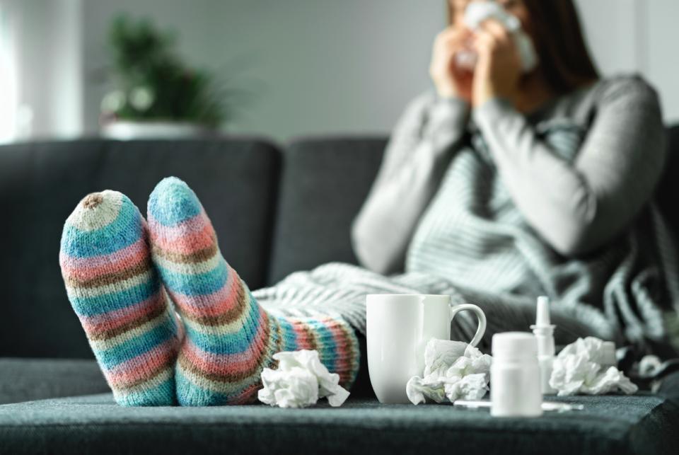 жена дете болна болно грип