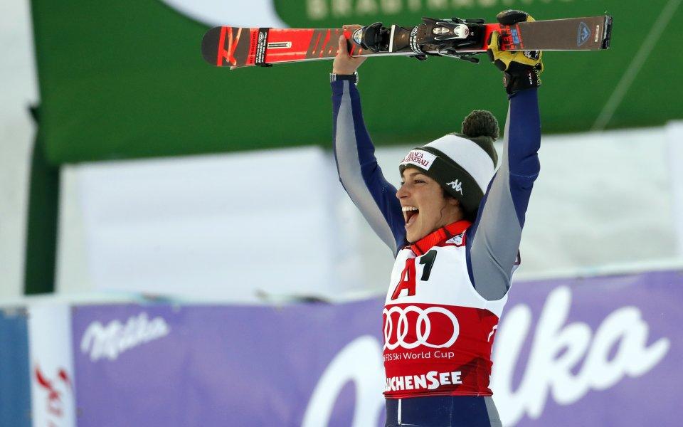 Федерика Бриньоне спечели алпийската комбинация