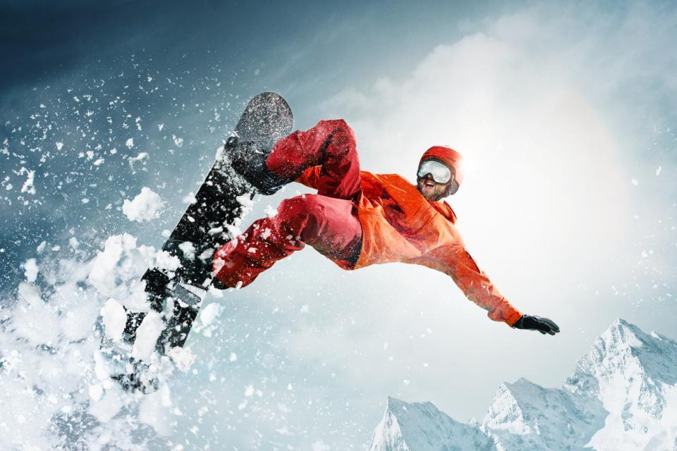 сноуборд зима спорт сняг