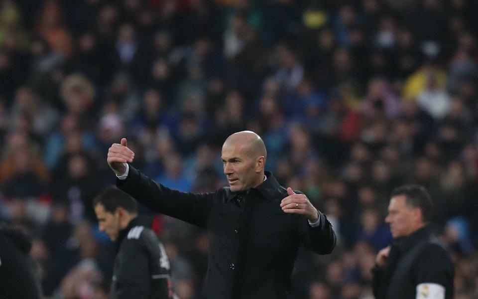 Треньорът на Реал Мадрид Зинедин Зидан говори след победата над