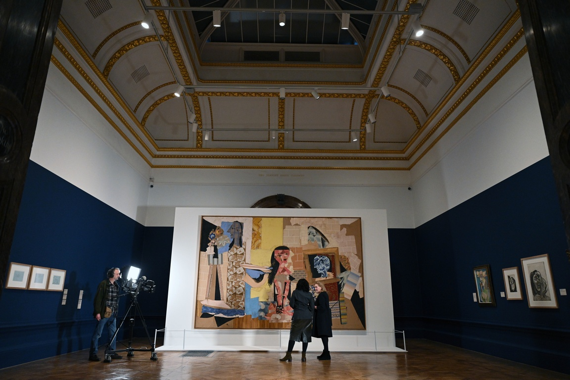 <p>Изложбата на Пикасо в Кралската академия на изкуствата в Лондон, Великобритания. Изложбата продължава от 25 януари до 13 април 2020 г.</p>