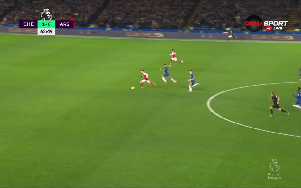 Отборите на Челси и Арсенал завършиха при резултат 2:2 на