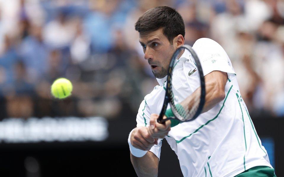 Миналогодишният шампион на Australian OpenНовак Джокович с лекота се класира