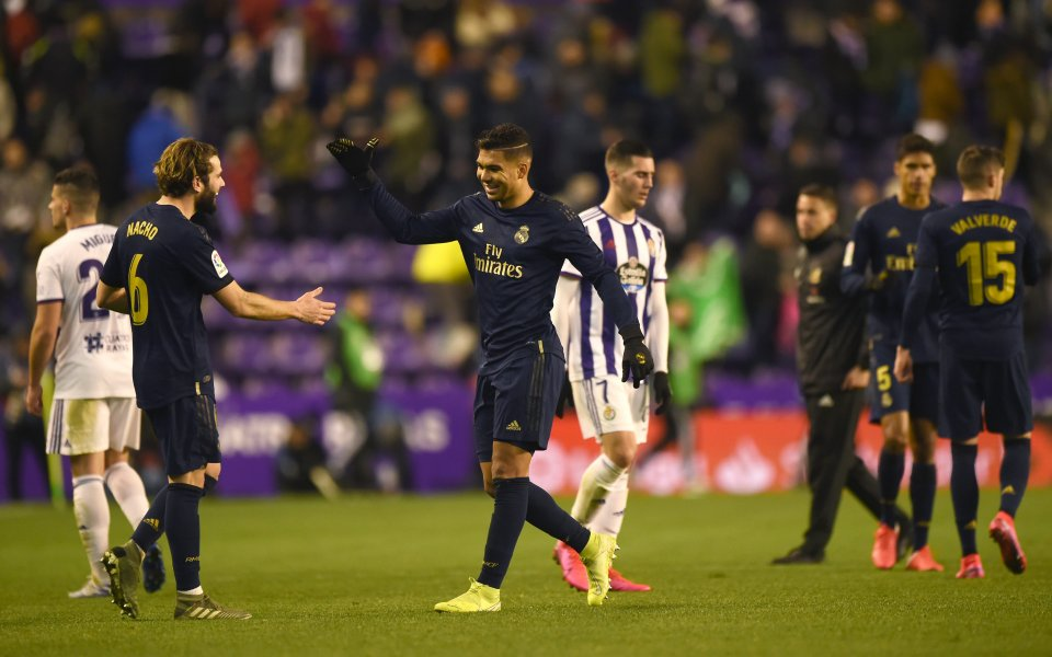 Отборът на Реал Мадрид успя да се възкачи на пъровто