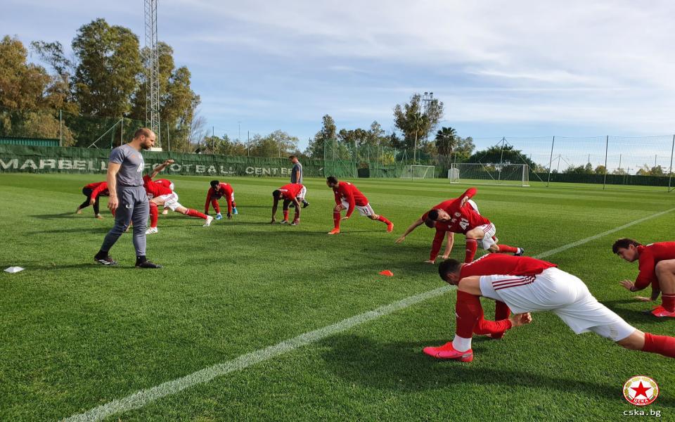 Отборът на ЦСКА ще изиграе поредната си контрола в испанския