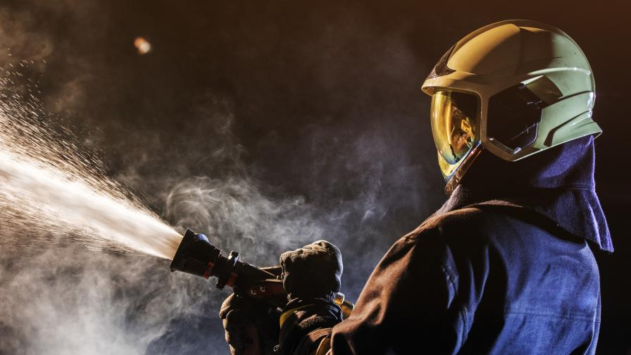 Пожар лумна в болница в Пловдив