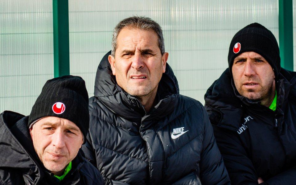 Треньорът на Берое, Димитър Димитров, говори след последната контрола на