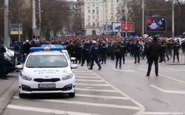 Синьото шествие акостира на Васил Левски