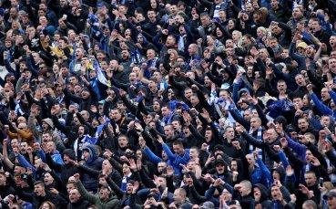 Фенове от 4 западни страни са дошли на дербито да подкрепят Левски