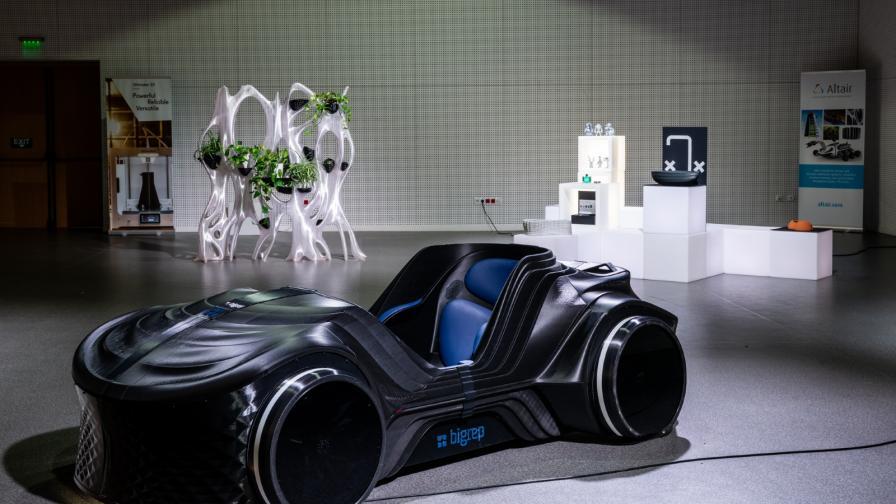 Автомобил, изграден изцяло от 3D принтирани части.