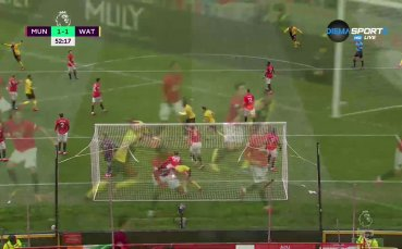 Намеса на ВАР отмени гол на Уотфорд срещу червените дяволи