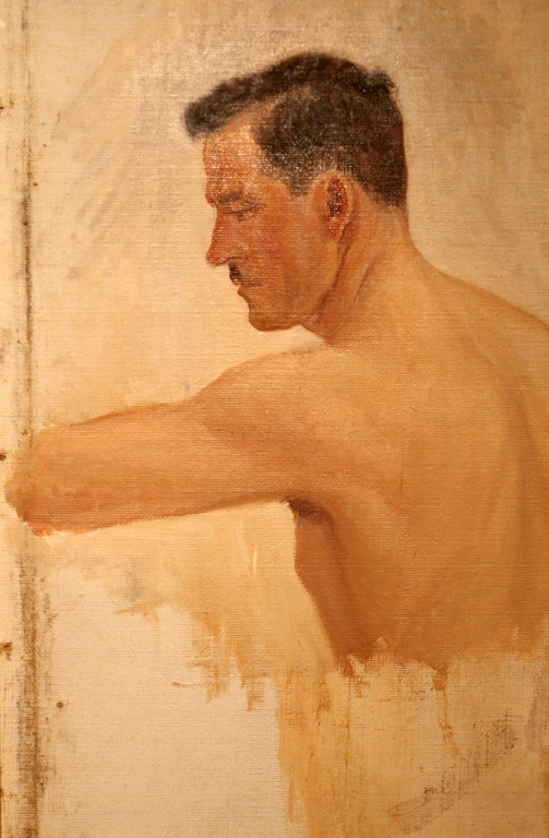 <p>Етюд на голо мъжко тяло, 20- те години на XX век</p>