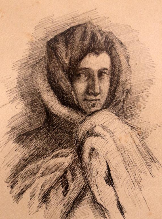 <p>Портрет на жена - след театър, 1911 г.</p>