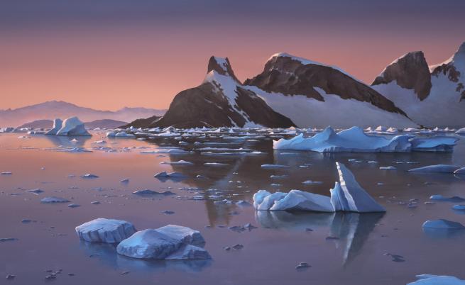 Мистерия на Антарктида, снегът стана кървавочервен