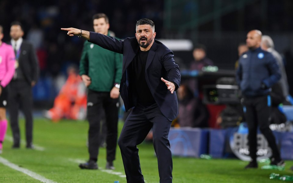 Треньорът на Наполи Дженаро Гатузо сподели, че той е концентриран