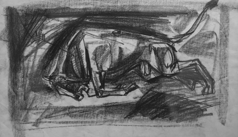 <p>Атанас Яранов</p>  <p>Бик, 80-те г. на ХХ в. молив, хартия</p>