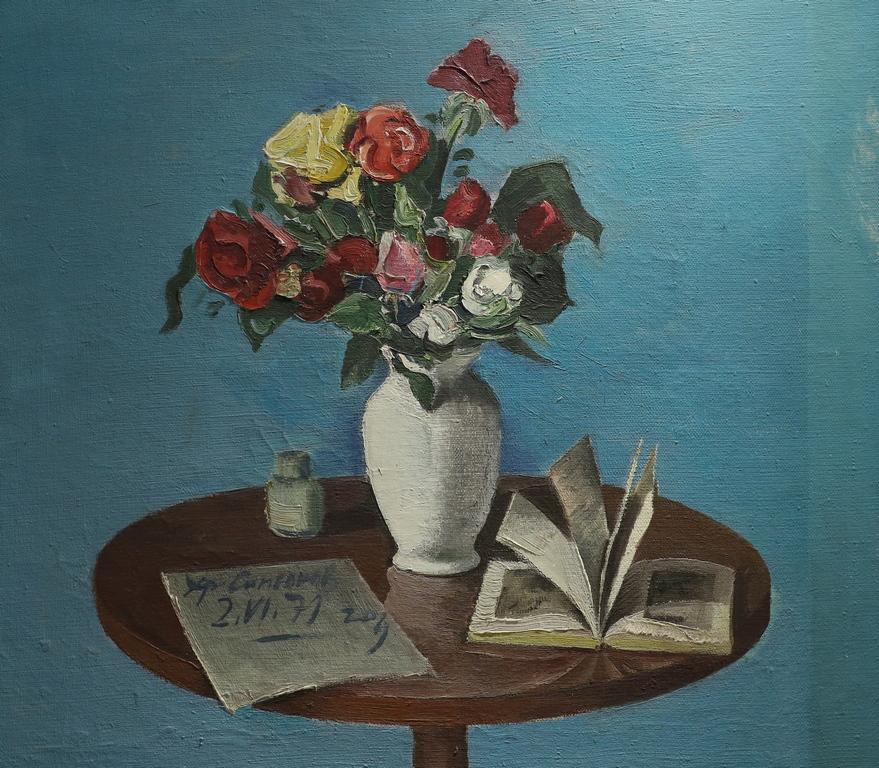 <p>Христо Симеонов</p>  <p>Натюрморт, 02.VI.1971 маслени бои, платно</p>