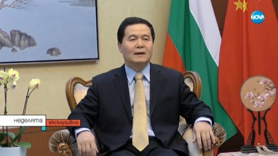 На снимката: китайският посланик у нас – Дун Сяодзюн