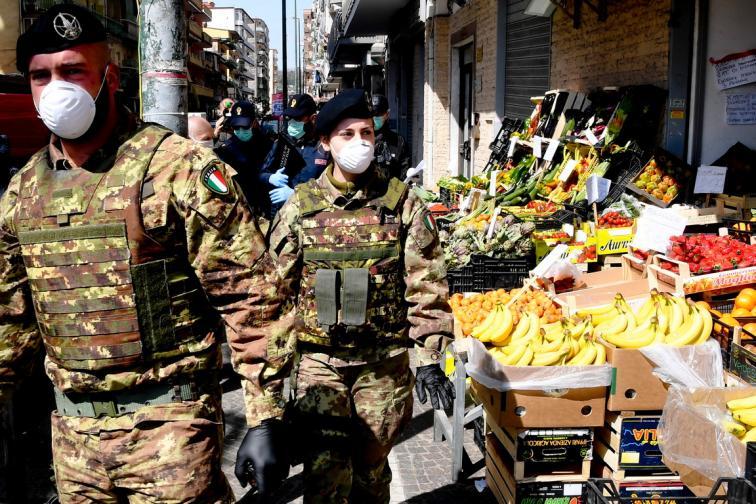 италия коронавирус армия рим милано мерки пусти улици