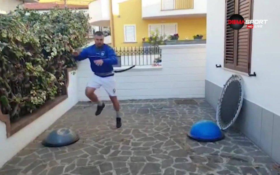 """Българският нападател Валери Божинов бе специален гост в предаването """"Домът"""