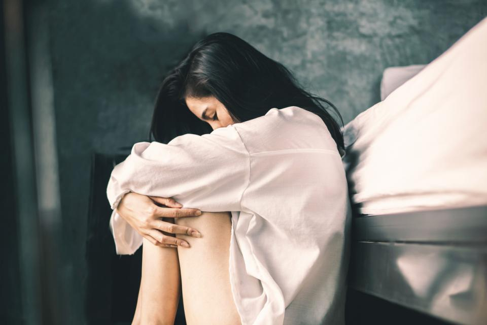 жена тъга тъжна