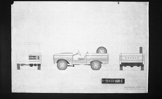 Ранни скици на Ford Bronco.