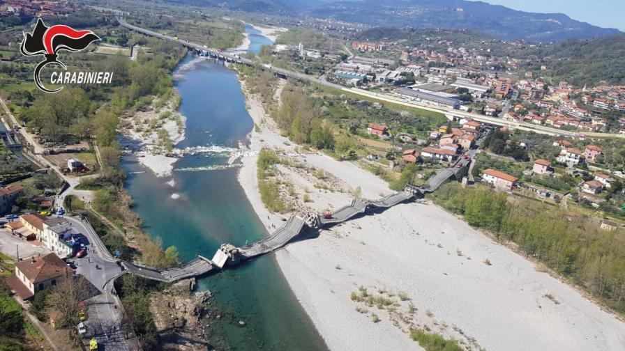 Пътен мост се срути в Тоскана