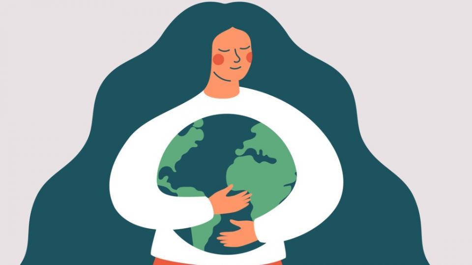 жена земя природа