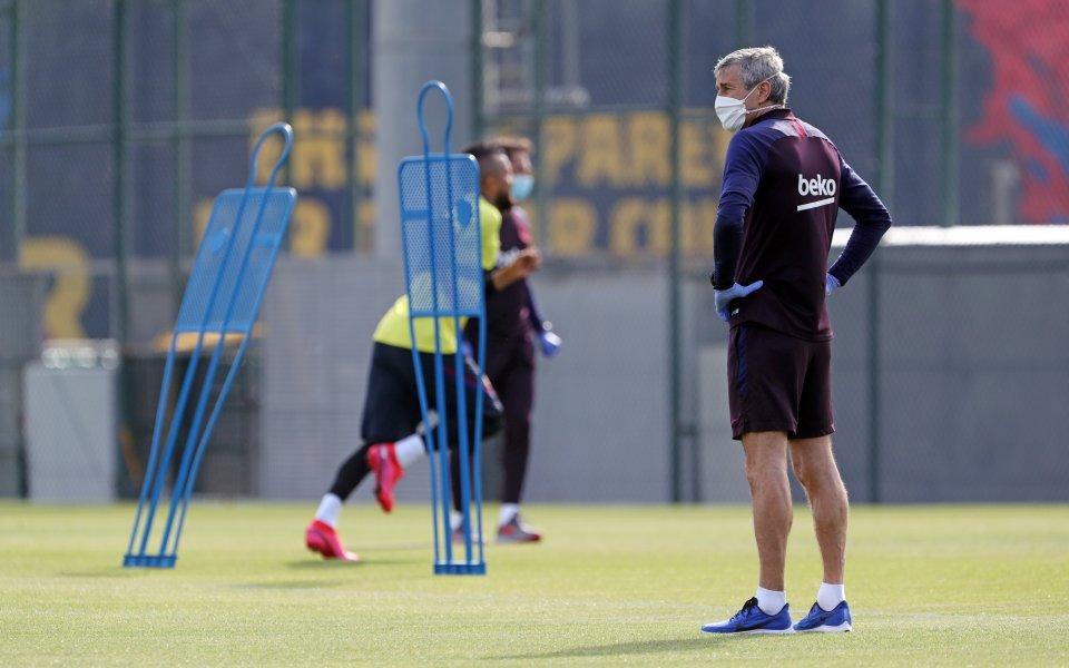 Всички футболисти на испанския шампион Барселона са дали негативни проби
