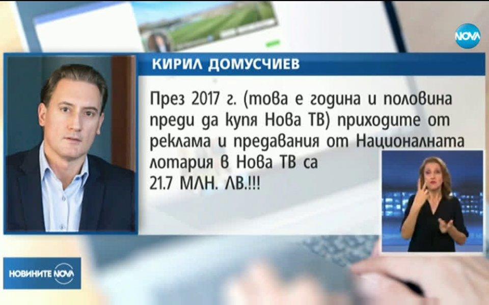 """Собственикът на Лудогорец и """"Нова Броудкастинг Груп"""" - Кирил Домусчиев,"""