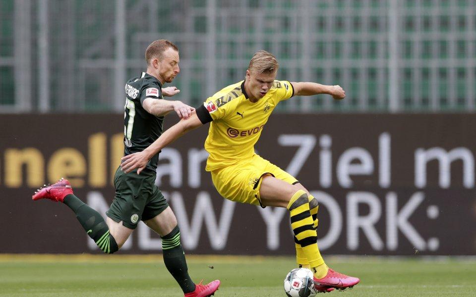 Волфсбург и Борусия Дортмунд играят при резултат 0:1в двубой от