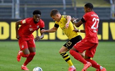 НА ЖИВО: Борусия Дортмунд - Байерн Мюнхен, Халанд се контузи!